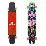 Playshion 46 Inch Dancing Longboard Cruising Freestyle Longboards Girl 1