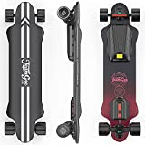 Teamgee H20 39' Electric Skateboard with Remote, 1200W Dual Motor, 30KM Range, 26PMH Top Speed, 4 Speed Adjustment Longboards Skateboard Designed for Teens and Adults