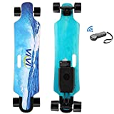 Vivi H2B Electric Skateboard, Youth Electric Longboard with Wireless Remote Control, 12.4 MPH Top Speed, 700W Drive Motor, 8 Layers Maple Longboard (US Stock)