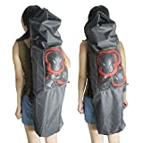 YOYOSTORE 41 x 11 Professional Boy Longboard Skateboard Carry Bag Handy Backpack with Mesh