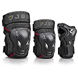 JBM Adult BMX Bike Knee Pads and Elbow Pads with Wrist Guards Protective Gear...