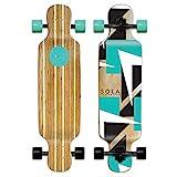 SOLA Bamboo Premium Graphic Design Complete Longboard Skateboard - 36 to 38 inch...