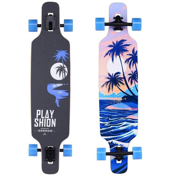 Playshion Longboard for for Comfortable Longboarding
