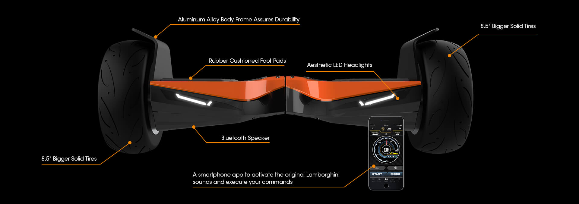 Features of Lamborghini Hoverboards​