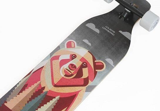 volador freeride longboard artwork