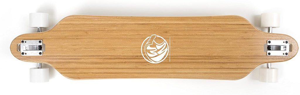 white wave bamboo longboard deck