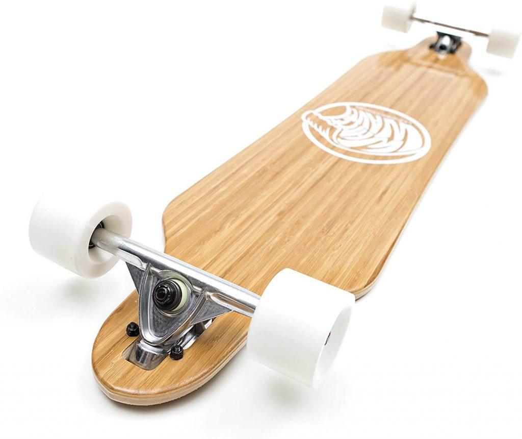 white wave bamboo longboard trucks